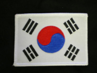 Korean Flag patch  uniform karate tang soo do tae kwon