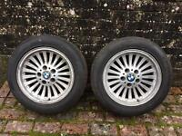 BMW e39 16 inch Turbines with new 205/55/16 tyres. Drift e36