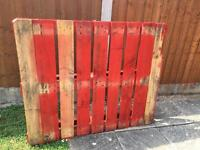 Wooden pallet red good condition