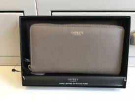 OSPREY Leather Zip-Round Purse. BRAND NEW IN BOX