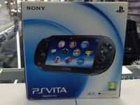 PS VITA- USED (MINT CONDITION)- PIANO BLACK COLOR - CAN BE SWAPPED IN STORE FOR OLD GADGETS