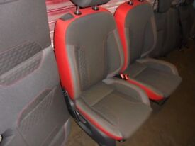 FORD FIESTA 2013-2016 Red / Black edition seats complete