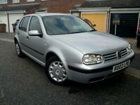 Good condition VW Golf 2002 (1.4). Petrol. Manual. MOT June 2019. Leather seats. Relocation sale.