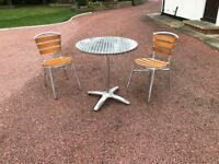 Cafe Style Table & 2 Chairs