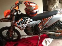 ktm 450 exc.champion edition ( 140 hours ) new sticker kit and panels and other parts