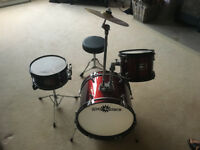 Junior 3 piece drum kit