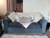2 Stone Grey 2 seater sofa's for sale