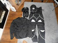 full set motorcycle clothing helmet boots suit