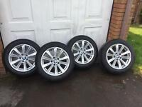 4 Genuine BMW F10 alloys 17 with tyres