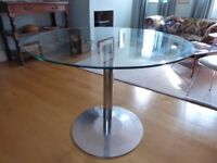 circular glass top table
