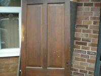 Solid hardwood internal door.