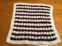 Dolls Pram Blanket/Cot Hand Knitted NEW