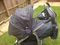 Silver cross 3d pram/ travel system with car seat