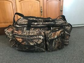 Large real tree camo fishing carryall