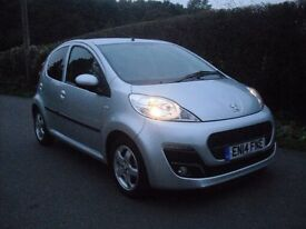 peugeot 107 five doors manuel only 7432 miles one lady owner