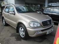 2002 52 MERCEDES BENZ ML 320 AUTO 7 LEATHER SEATS FULL HISTORY LOADS RECEIPTS MOT 03/17 PX SWAPS