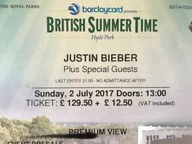 Justin Bieber Premium View MASSIVE DISCOUNT!! (Hyde Park, London)