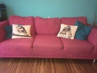 4 seater sofa and chair For free. Need recovered due to cat scratches.