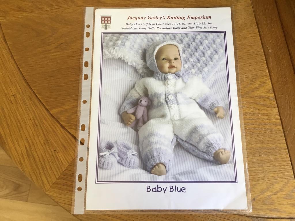 e9da00544 BABY BLUE DOLLS CLOTHES KNITTING PATTERN