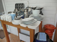 BARGAIN! CROCKERY/COOKWARE bundle. 55+ items. Good mix.Due 2 house move. Collection/local delivery