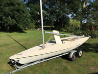 Laser 1 Sailing Dinghy Sail Number 68886 with Bramber galvanised conbination road trailer