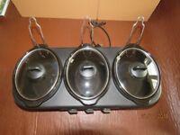 New Bella 3 pot slow cooker