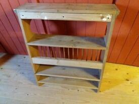 Plate rack large country kitchen pine hand made bespoke.