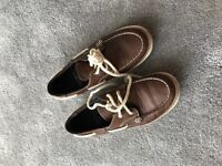 Size 4 Boys boat shoes