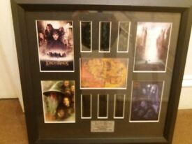 TWO LORD OF THE RINGS FILM CELLS LIMITED EDITION