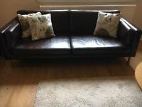Brown leather sofa Leicester