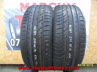 AA387. 2X 235/50/18 87W J CONTINENTAL PREMIUM CONTACT2 - NEW TYRES