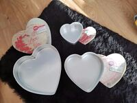Heart Shaped Cake Tins x 3 Sizes - Prices in Text