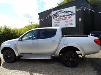 2010 59 MITSUBISHI L200 WARRIOR , MANUAL ,SILVER , LEATHER, 3M WARRANTY , FREE UK DELIVERY