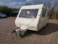 Abi Marauder gold 5 berth compact touring caravan cassette toilet bunk beds
