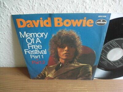 "David BOWIE ""MEMORY OF A FREE FESTIVAL"" 1970 Mint Rare ""7 45Rpm"