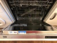 Integrated beko dishwasher 12 months old