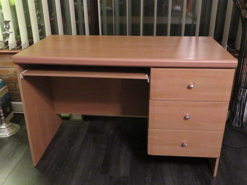 Desk with 3 drawers and slide out computer tray