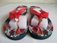 NEW Kate Spade holiday wear slippers flip flops - bow gold spade pendant detail UK 5 / EU Size 38