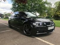 57 plate bmw 330d automatic m Sport diesel sat nav black leather 109000 full history mint
