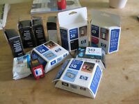 Selection of ink cartridges mainly HP.