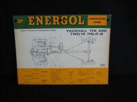 Vintage BP Energol Laminated Lubrication Guides
