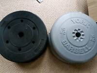 Weight plates. 4 × 10kg