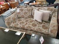Three seater with armchair and large footstool