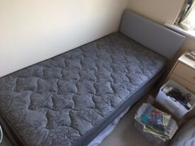 single bed divan & integral mattress and a fold out guest bed with mattress