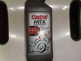 CASTROL MTX SYNTHETIC SAE 80 2-STROKE MOTORCYCLE GEARBOX OIL