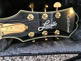 Rare Epiphone 335 BB King Lucille. New with case.