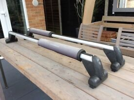 Vw t5 roof bars made by logo