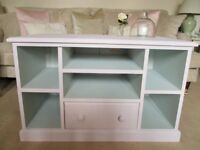 Beautiful Pale Pink and Eau de Nil TV and Media Unit Perfect for a pale decor or girl's bedroom