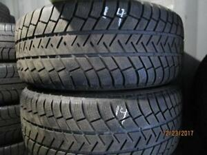 255/55R18 SET OF 4 USED MICHELIN WINTER TIRES ON PORCHE CEYENNE ALLOY RIMS