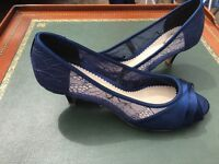 Navy shoes with a small heel